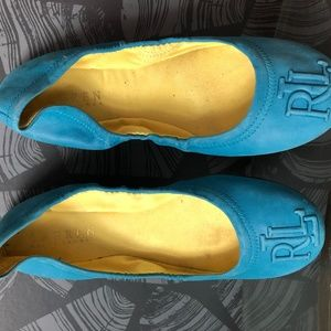 Ralph Lauren Flats (Blue with Yellow Lining) Size6